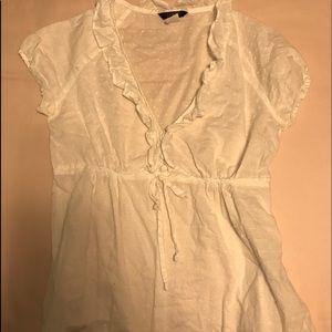 J crew white blouse
